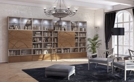 本棚,壁面